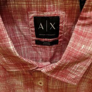 NWT Armani Exchange short sleeve button down